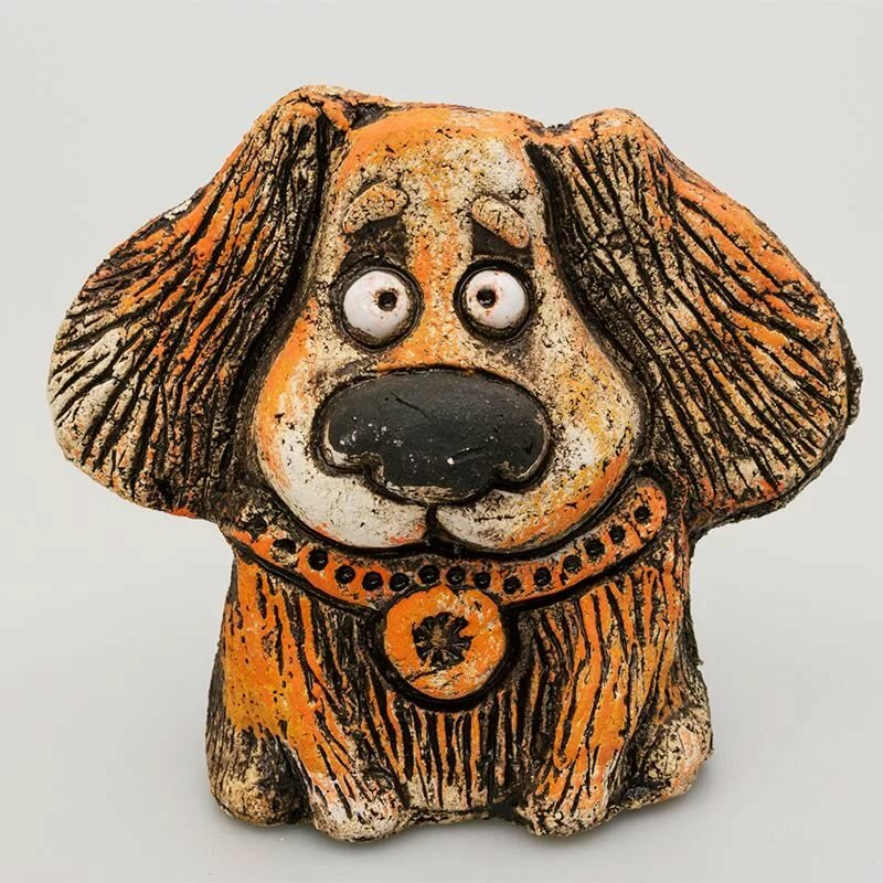 Картинки собак из глины