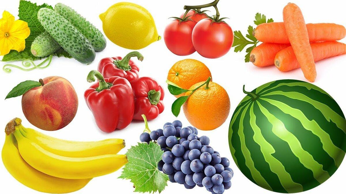 Картинки овощи фрукты животные