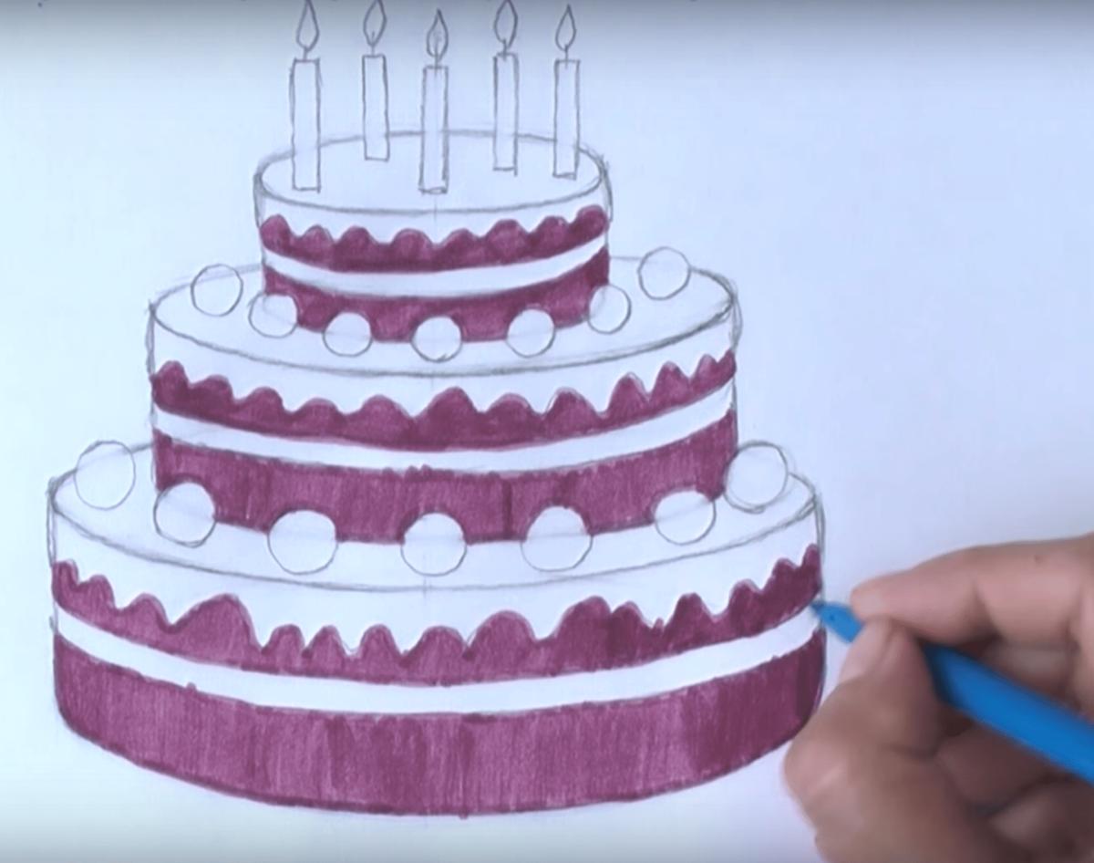 некоторых что можно нарисовать в открытке на день рождения торт компания занимается поставками