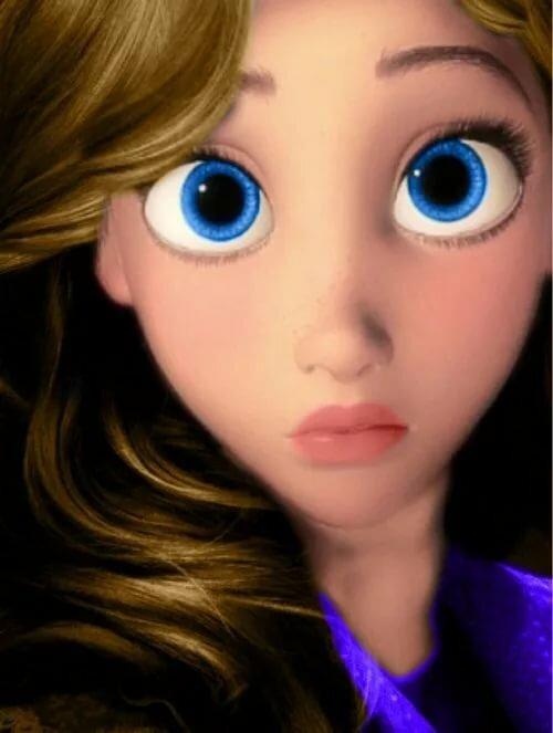 Принцессы с большими глазами картинки