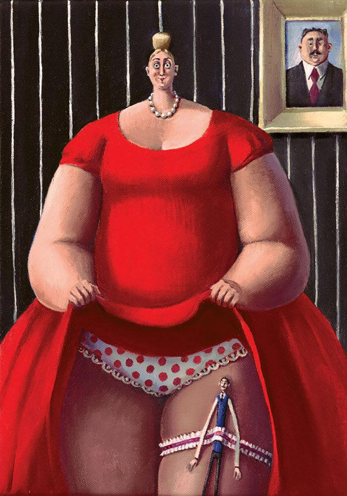 Смешная картинка толстой девочки