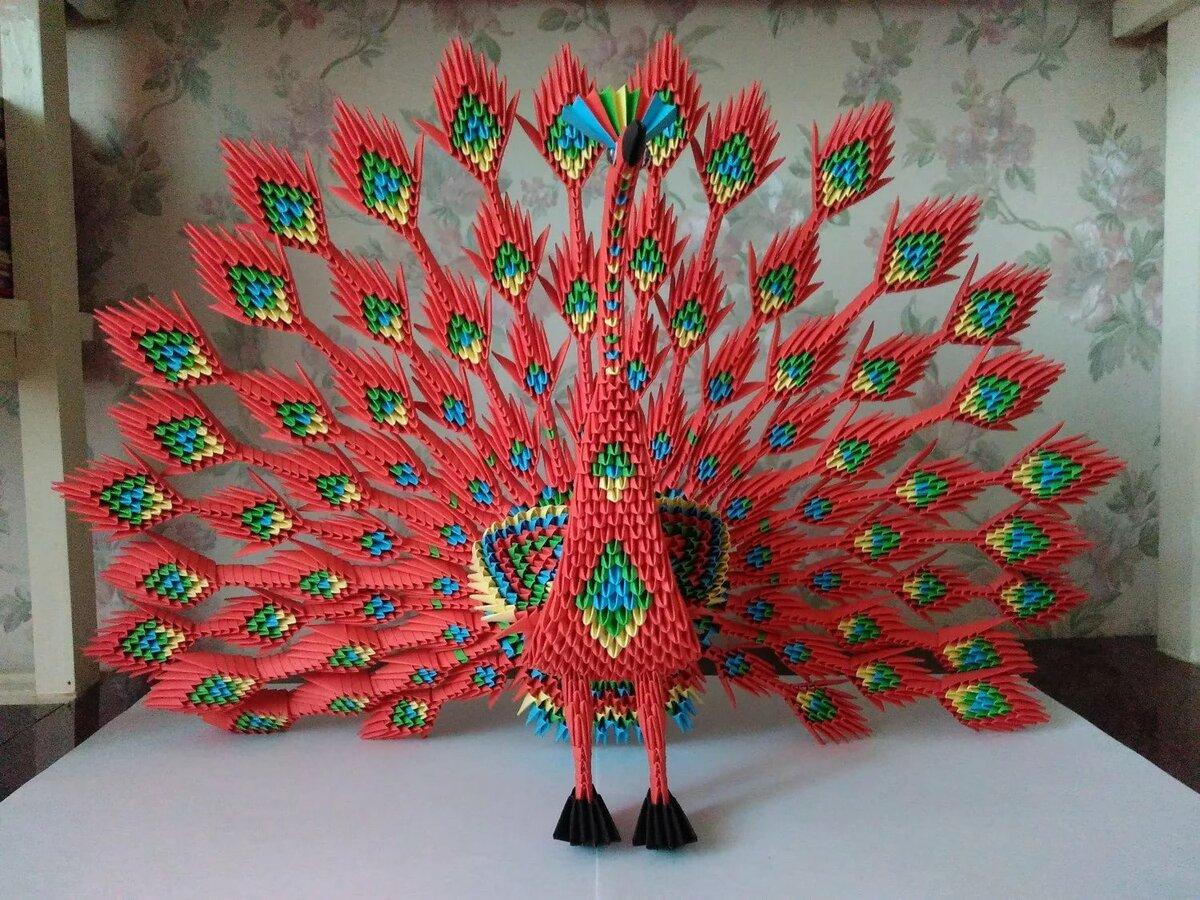 Павлин картинки модульный оригами