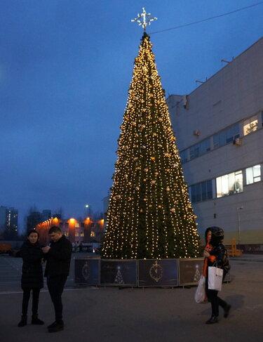 елка в саратове на театральной площади 2019