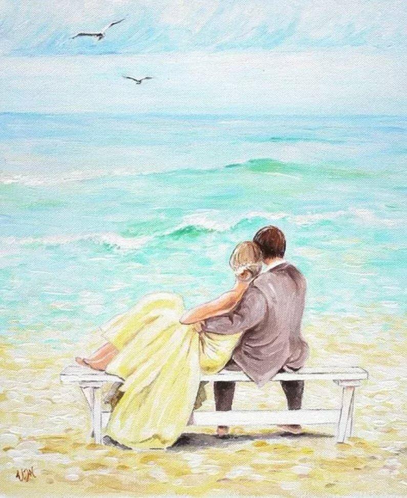 Картинки мужчины и женщины романтические нарисованные