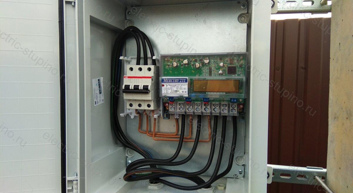 Подключение провода к автомату в электрощите 15 кВт