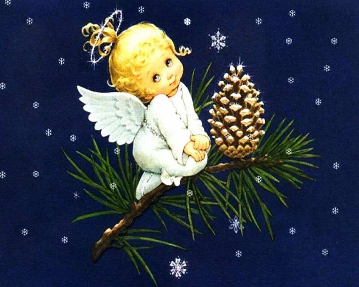 Картинки с ангелочками рождество