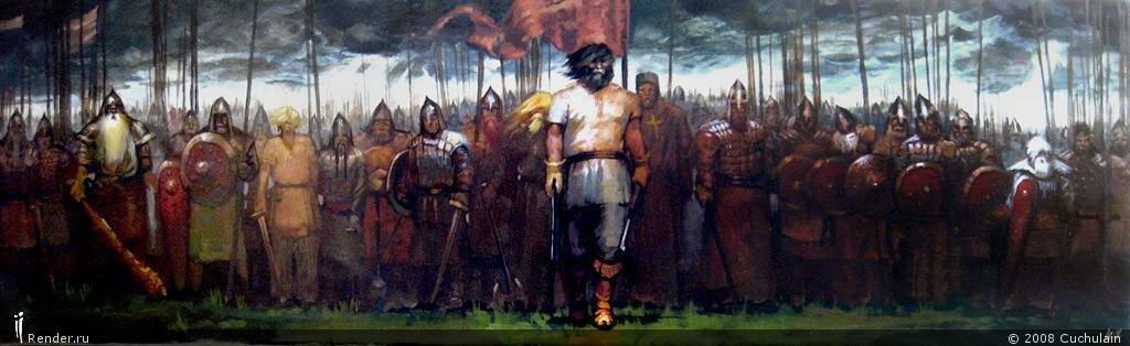 картинки русичи перед битвой новогодним талисманом