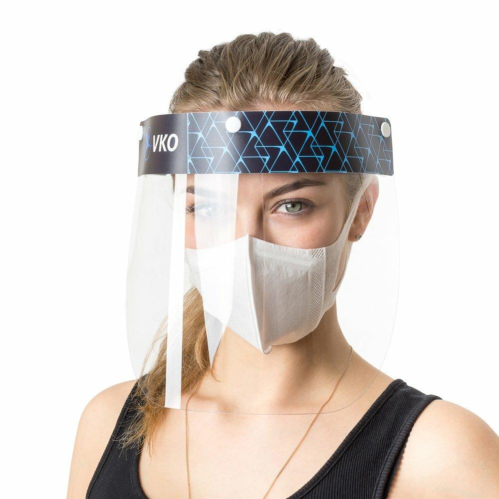 Многоразовый защитный экран для лица и глаз