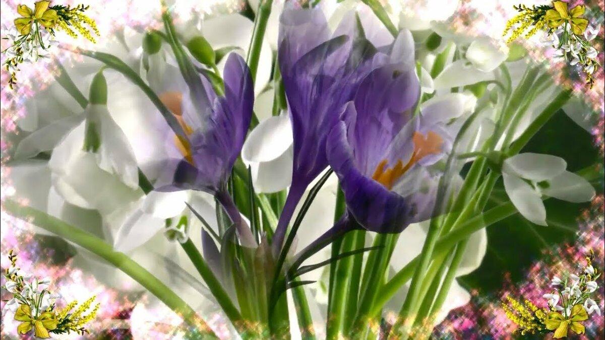 Открытки с днем рождения женщине весенние цветы