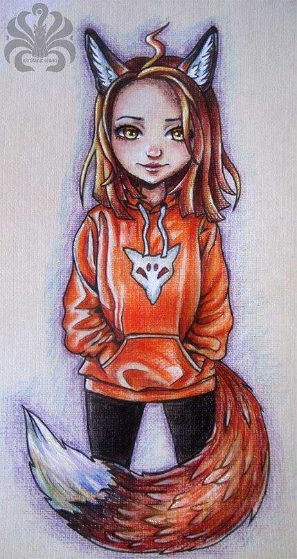 Нарисованные картинки лисички элины