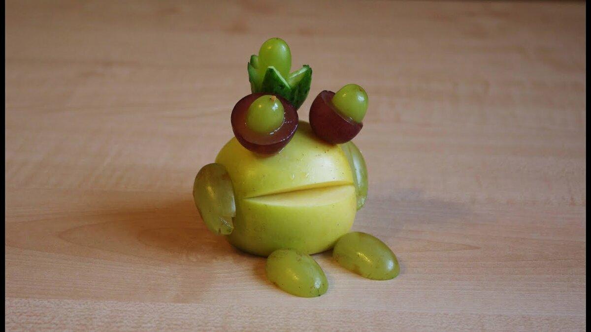 Поделка из яблока своими руками