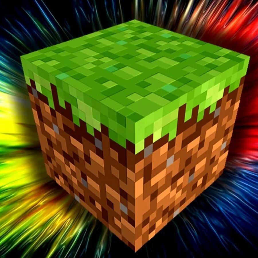 Картинки кубики майнкрафт