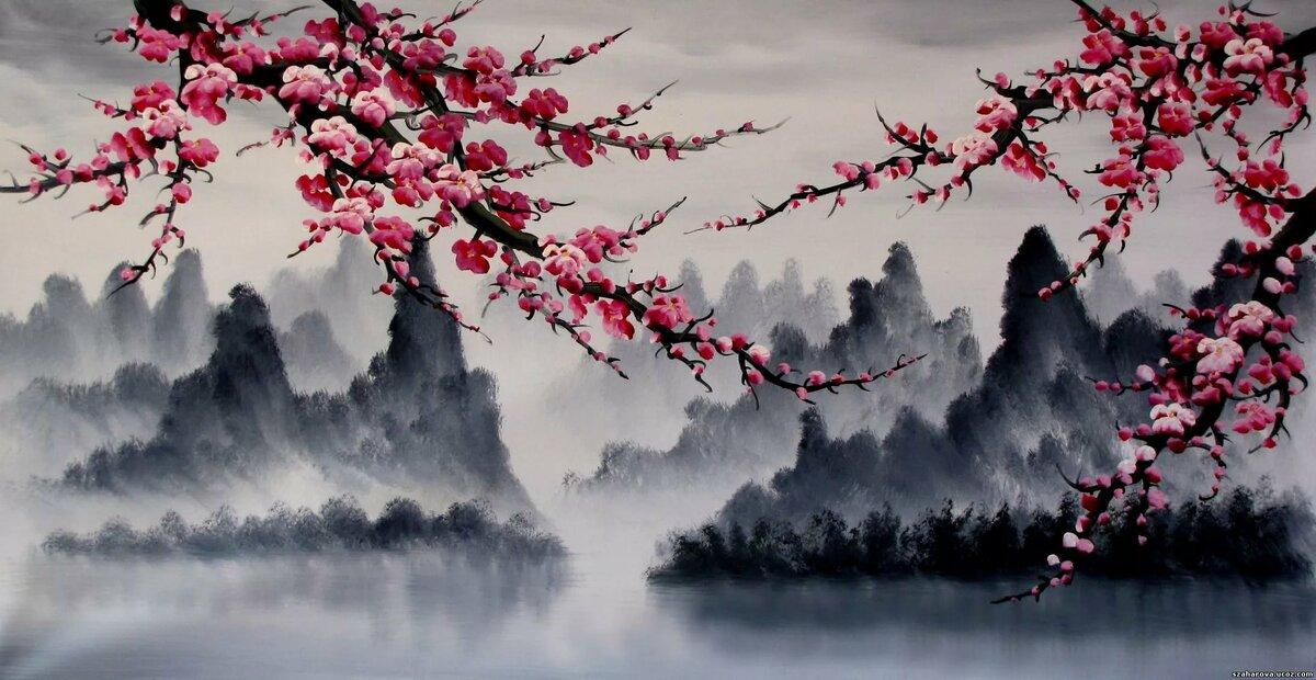 постеры японский пейзаж меня знаешь