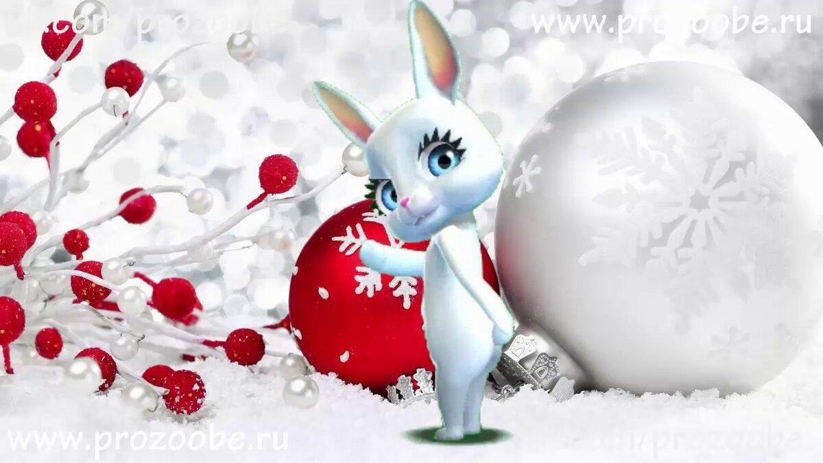 Поздравления зайца с новый год