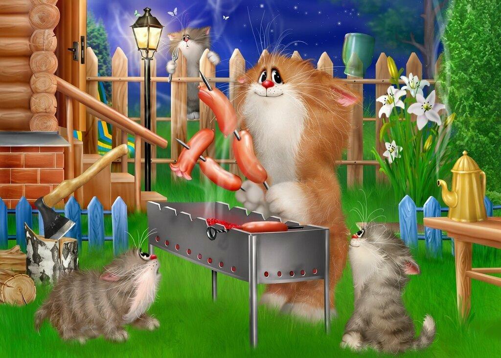 Картинки коты алексея долотова картинки