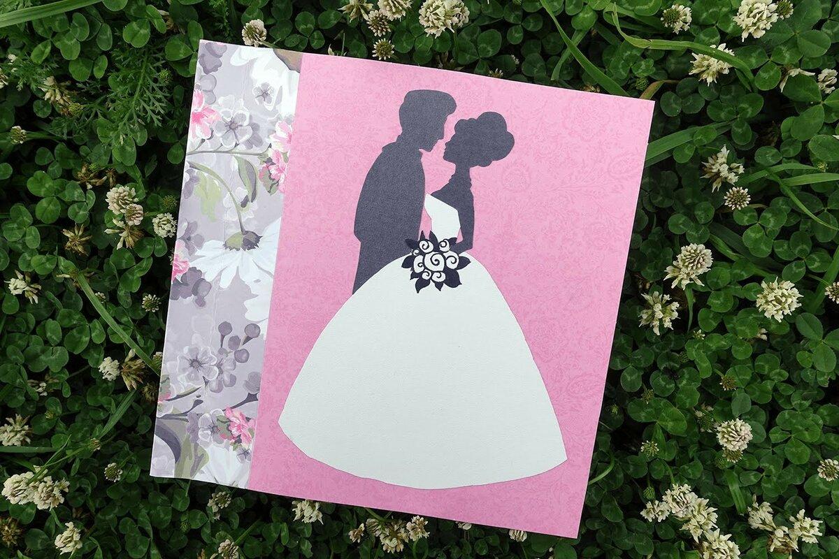 шаблон для свадебной открытки своими руками что