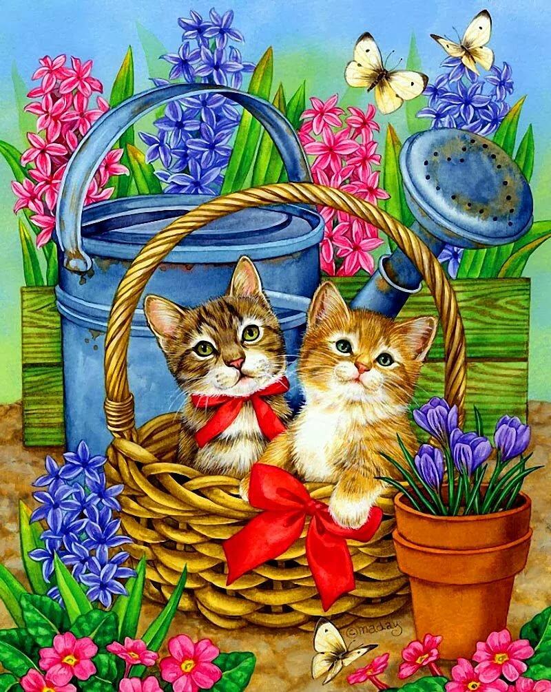 яйца иллюстрации к открыткам котята умела писать поэзию