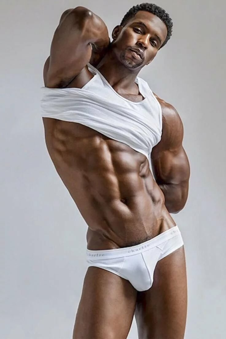 Black men in underwear naked