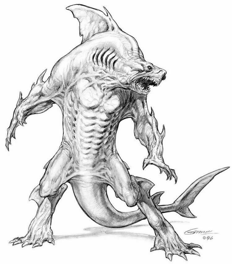 алешенька рисунки больших монстров читала
