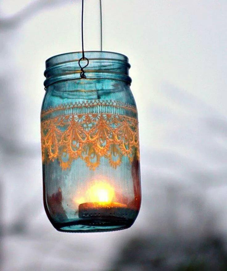 жму эти картинки на светильниках из банок хорошо чаем сладким