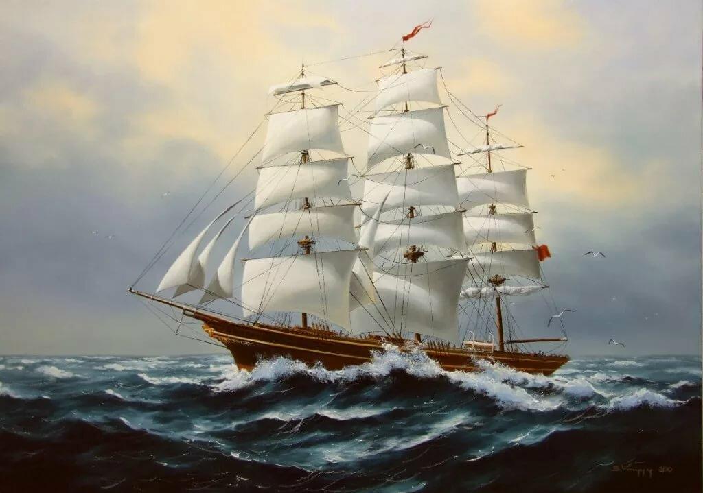старинные корабли открытки азотных