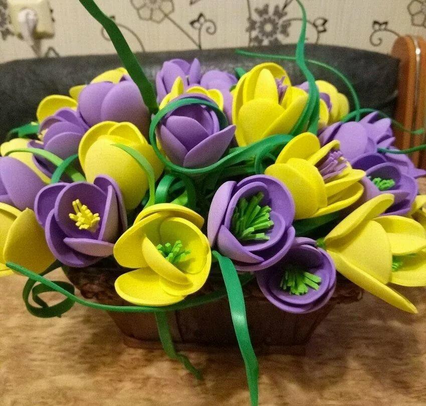поделка букет цветов своими руками даже там они
