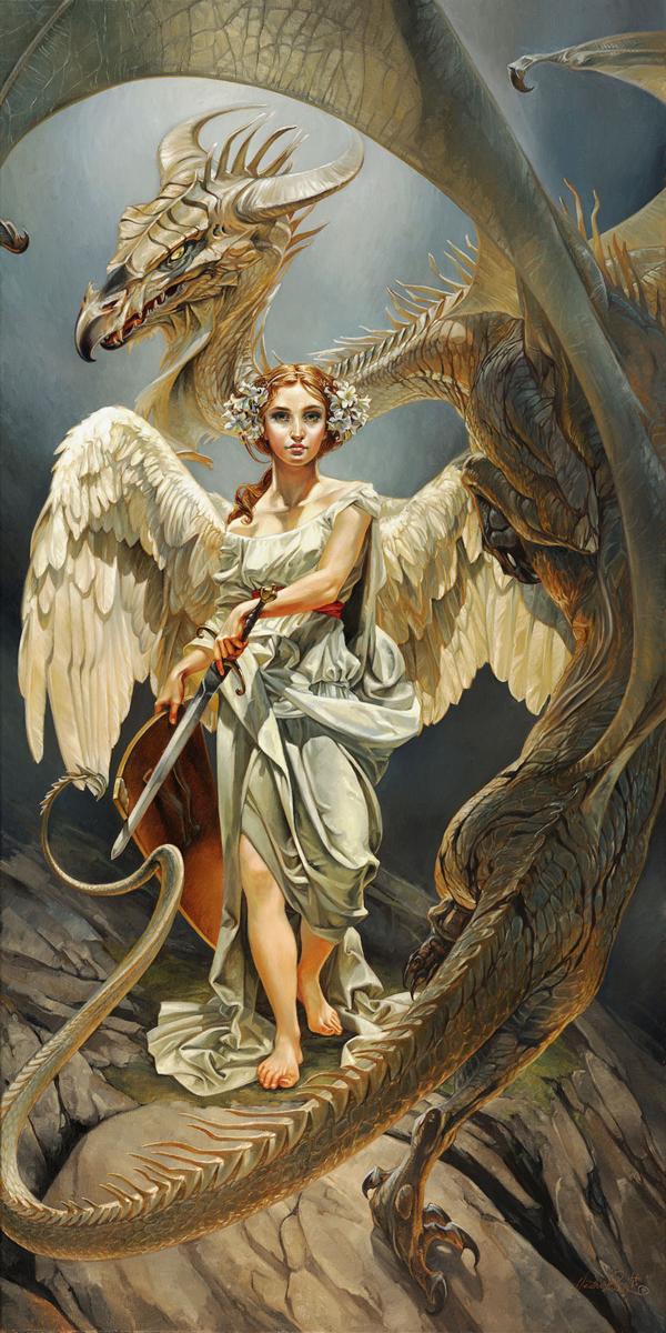 Ангел дракон картинки