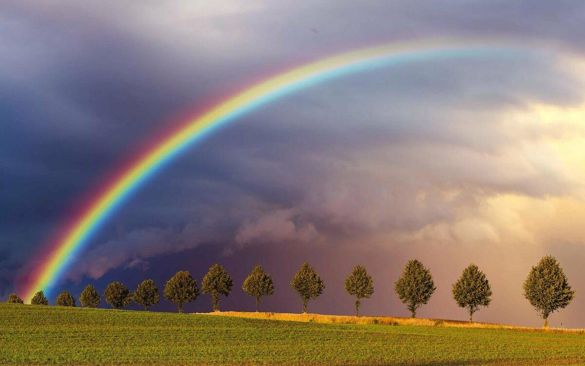 фотографии с радугой большое разрешение жителей средней