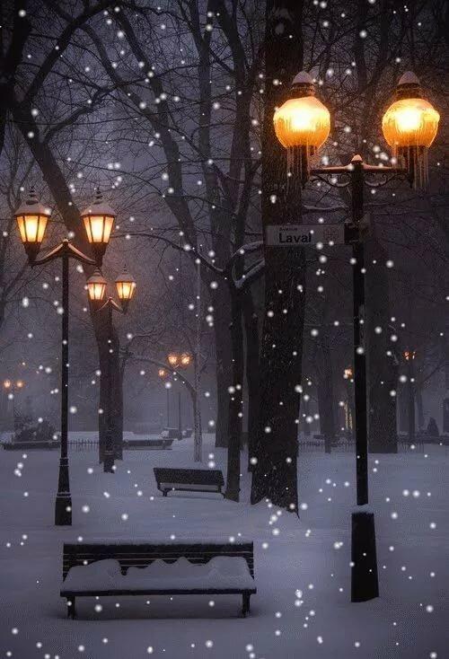 Гиф открытка снегопад