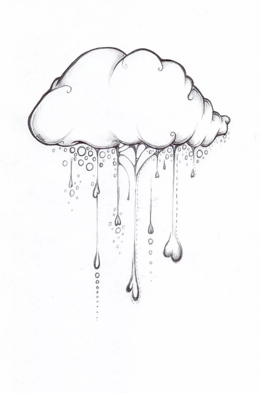 Картинки с дождем для срисовки