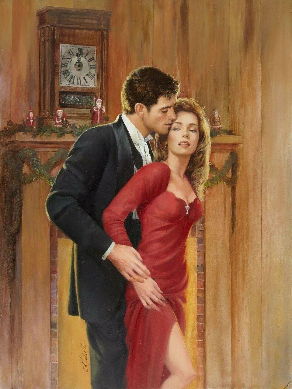 Картина мужчина и женщина