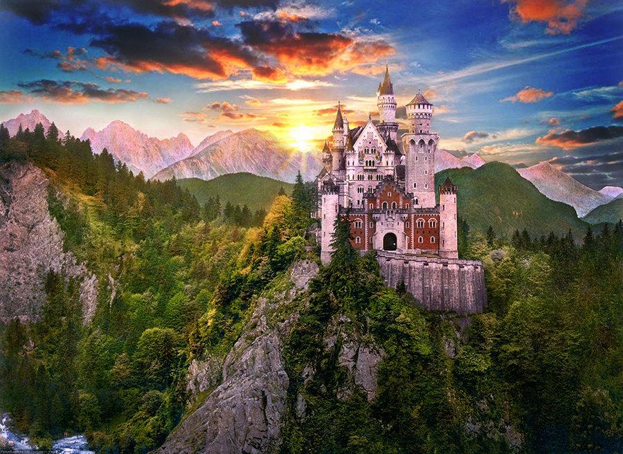 Сказочные картинки замков