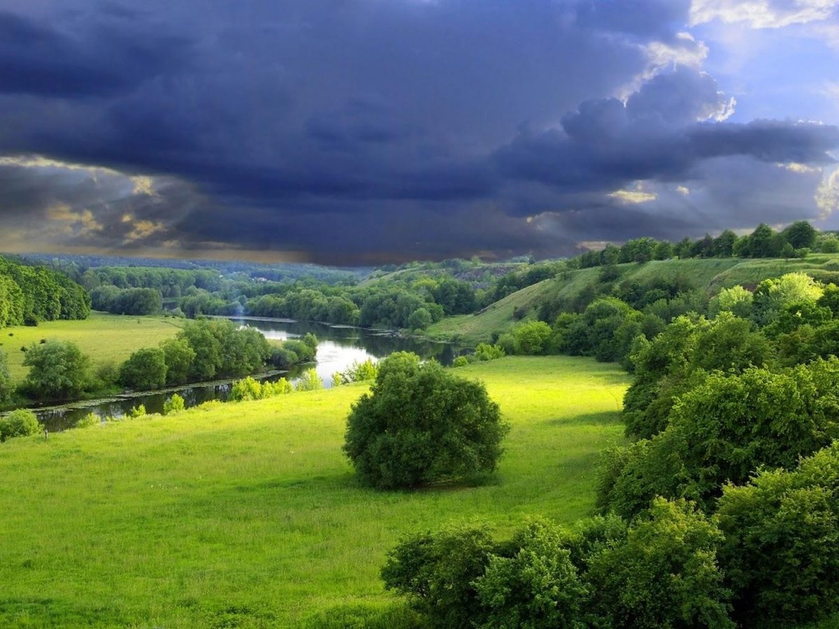 1680x1260 Download Most Beautiful Cloudy Green Valley Hd Wallpaper