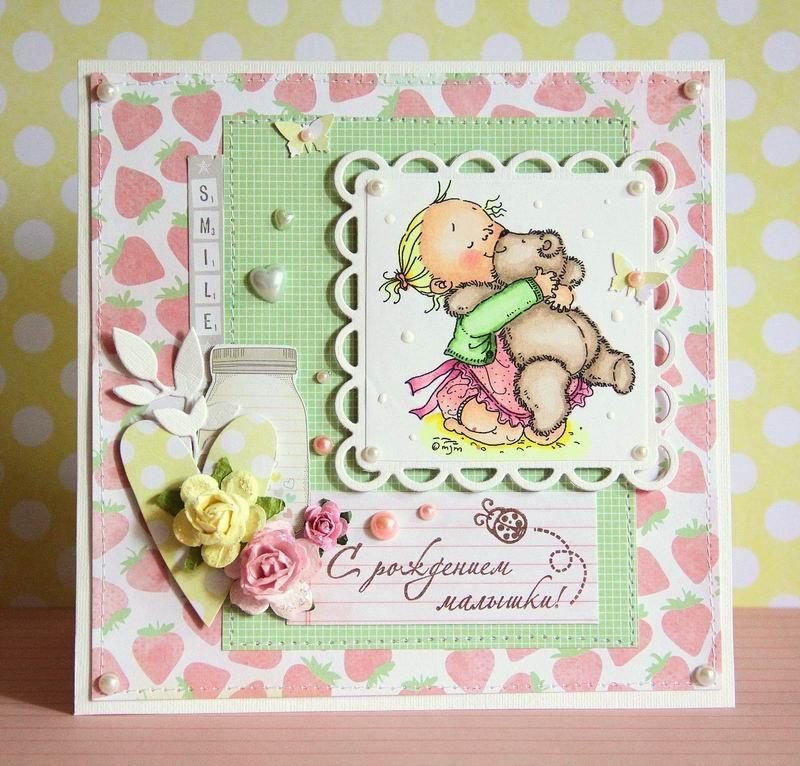 Картинки, открытки на 1 годик девочке скрапбукинг
