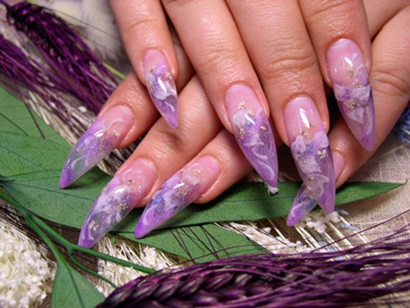 Маникюр аквариум ногтей фото