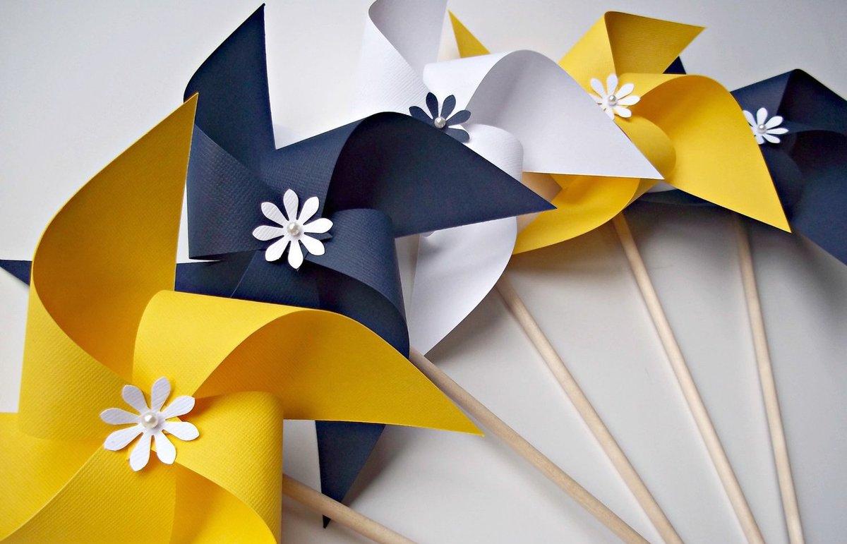 Бумажные вертушки своими руками фото 335