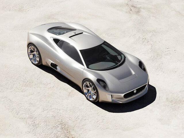 Jaguar C-X75 Concept знаменует собой 75-летний юбилей культового бренда Jaguar и попытку заглянуть в будущее автомобильных технологий.
