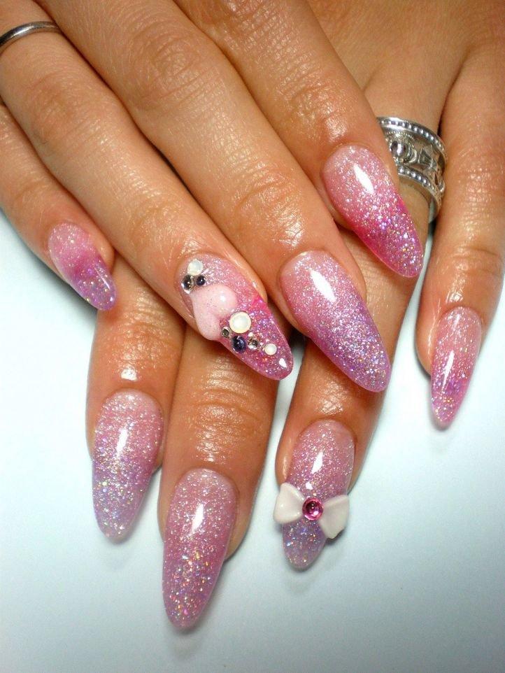 Картинки нарощенных ногтей с блестками