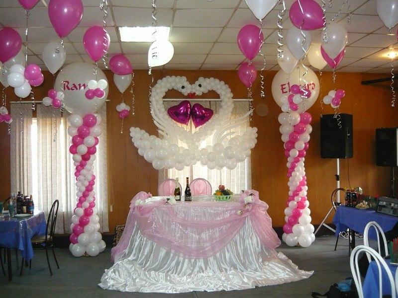 Праздничное оформление воздушными шарами, украшение