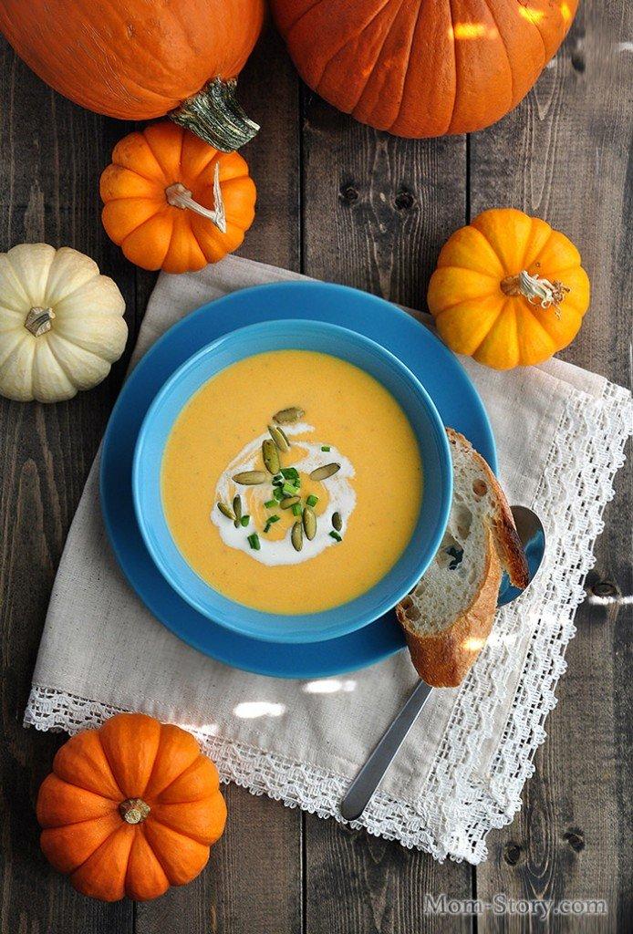 Самый вкусный тыквенный крем суп рецепт со сливками, с нежной текстурой