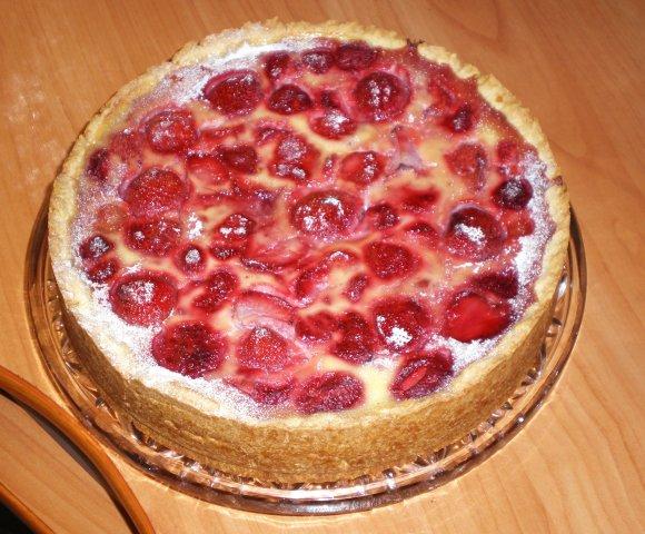 пирог с клубникой рецепт с фото
