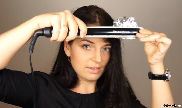 Средство перед использованием утюжка для волос