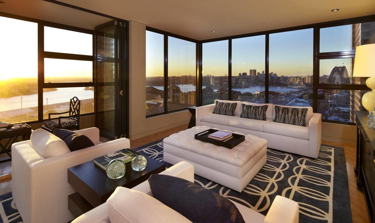 Modern Family Living Room With Big Gallery And Window Picture. Living Room  Big Window Including