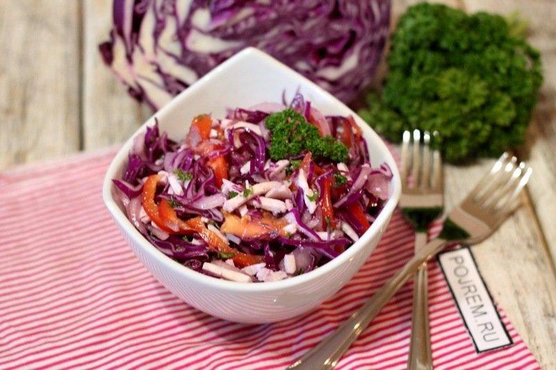 салат из красной капусты картинки составе