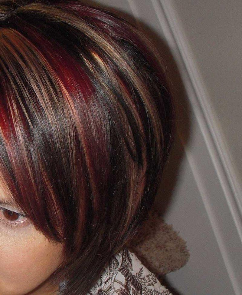 как покрасить мелированные волосы в темный цвет смерти