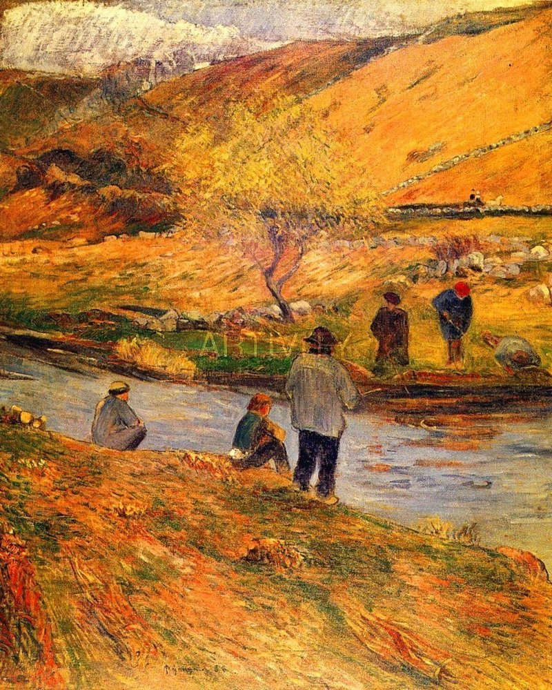 Breton Fishermen by Paul Gauguin Oil Painting Reproduction