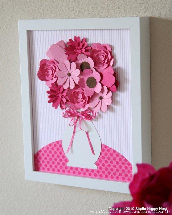 Поделки из бумаги своими руками цветы открытки