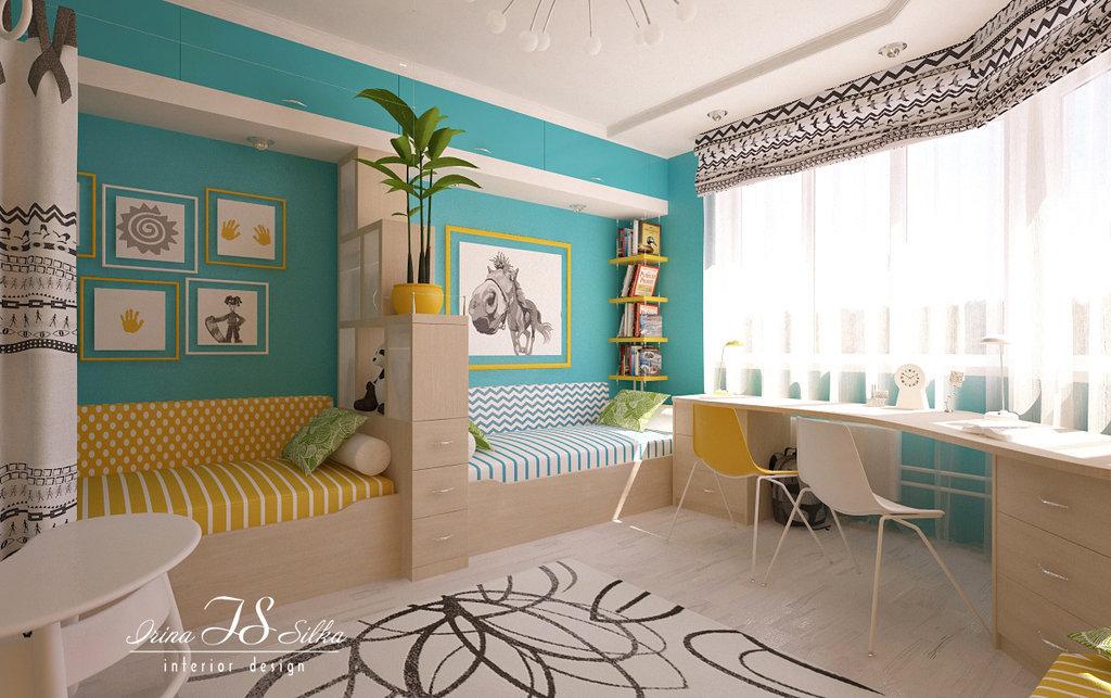 бирюзовый цвет в детской комнате для мальчика фото стремимся