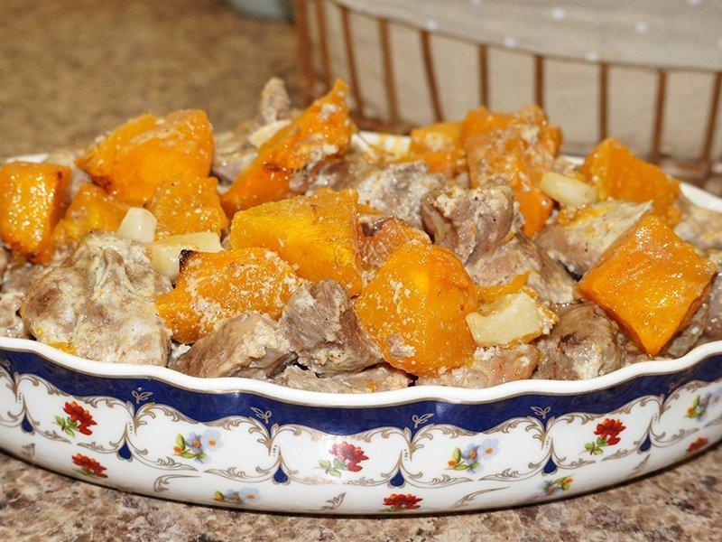 тыква в духовке рецепты приготовления кусочками с курицей