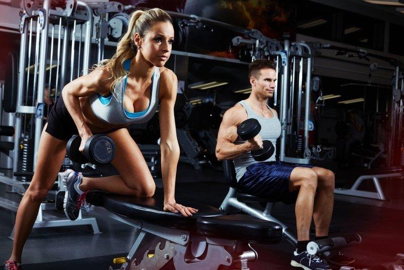 Znalezione obrazy dla zapytania мышцы в спортзале